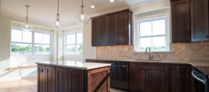 Built-in kitchen benches in our new Bayview Estates home, Middletown DE